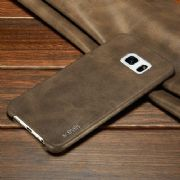 Samsung Thin Leather Hard Back Phone Cover